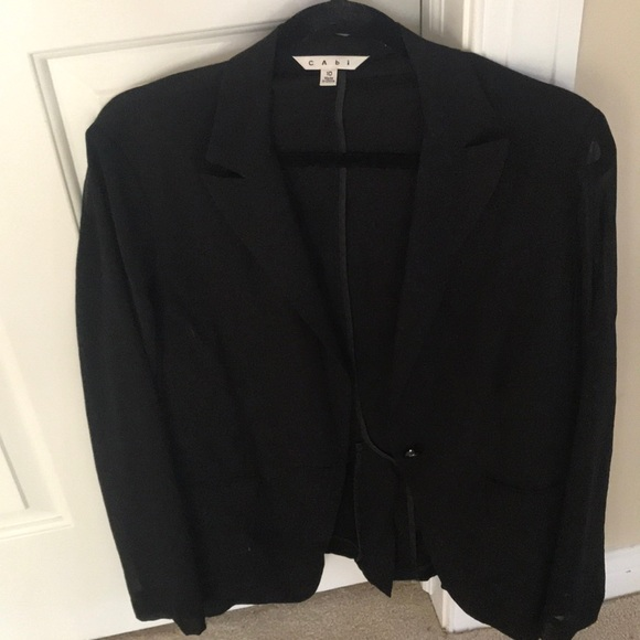 CAbi Jackets & Blazers - CABI BLACK BLAZER WITH SHEER SLEEVES